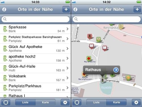 iphonebildschirmansicht whellmapapp©Stadt Barsinghausen