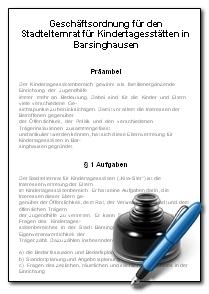 Geschäftsordnung Stadtelternrat©Stadt Barsinghausen
