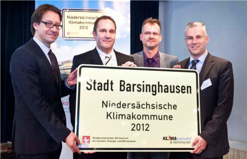 Preisverleihung Klimakommune©Stadt Barsinghausen